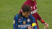 Doppio giallo per Zanetti che atterra Asamoha in area e rigore per l'Udinese