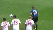 Denis da calcio di rigore firma il momentaneo pareggio contro il Milan