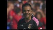 Amauri segna il goal vittoria per il Palermo contro la Lazio