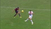 A Marassi De Sanctis e la traversa negano il goal a Bertolacci