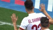 A San Siro El Shaarawy segna il goal dell'ex e non esulta: Roma sul 2-0