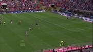 A San Siro Jovetic elude il fuorigioco e segna il goal del pari della Fiorentina
