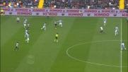 A Udine il difensore della Lazio Hoedt in scivolata anticipa tutti e disimpegna in corner