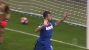 Acerbi colpisce contro il Milan: è il goal del 2-1 per il Sassuolo a San Siro