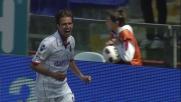 Acquafresca con un colpo di testa realizza il goal vittoria nella trasferta di Genova