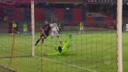 Adjapong insidia il Cagliari, ma il suo tiro termina alto sopra la porta