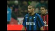 Adriano dal dischetto porta in vantaggio l'Inter nel derby