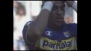Adriano fallisce un comodo tap-in all'Olimpico contro la Lazio