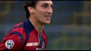Al Bentegodi la fortuna premia il difensore del Cagliari Astori che realizza il goal del pareggio