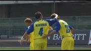 Al Bentegodi Bogdani festeggia il goal del raddoppio contro il Genoa