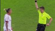Al Franchi di Firenze Mexes ammonito urta l'arbitro che perde il cartellino giallo