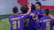 Al Franchi Mutu segna il goal che vale tre punti contro il Cagliari