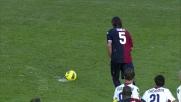 Al Sant'Elia Conti segna un goal al Bologna su rigore riportando in pari il risultato