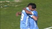 Al Sant'Elia Lulic segna il goal dello 0-2 della Lazio sul Cagliari