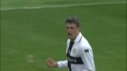 Al Tardini Crespo non sbaglia dagli 11 metri contro l'Udinese