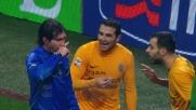 Alejandro Gonzalez rischia un tackle su Kaka: rigore inevitabile e proteste del Verona