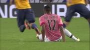 Alex Sandro ferma fallosamente Viviani in tackle: secondo giallo ed espulsione per il terzino della Juventus