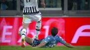 Allo Juventus Stadium Lulic ripiega e salva in tackle su Mandzukic