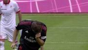 Ambrosini con un gran tuffo di testa porta in vantaggio il Milan al San Nicola di Bari