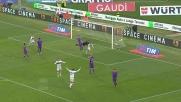 Antonelli sorprende la difesa della Fiorentina e segna il goal del 2-2