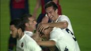 Ariaudo segna il goal del momentaneo pareggio del Cagliari