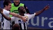Asamoah capitalizza l'assist geniale di Di Natale e realizza il goal del 3-1