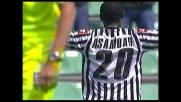Asamoah segna il goal del vantaggio dell'Udinese sul Cagliari