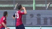 Astori segna il goal del momentaneo vantaggio del Cagliari sull'Inter