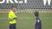 Astori trattiene Bianchi in area: rigore per il Torino