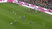 Percussione di Badu, ma il suo tiro è murato dalla difesa della Lazio