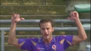 Gilardino segna il goal del momentaneo vantaggio della Fiorentina a Bari