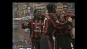 Tomasson realizza l'1-0 per il Milan a Marassi