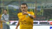 Stop e goal di Romulo che batte Carrizo con un colpo di estrema rapidità