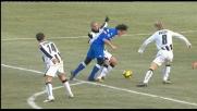 Pepe ferma Pozzi in area con uno sgambetto: rigore per la Sampdoria