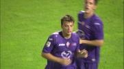 L'appoggio vincente di Ljajic segna il goal del vantaggio della Fiorentina