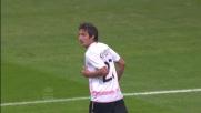 Bacinovic dalla distanza beffa Abbiati per il goal del momentaneo pareggio del Palermo