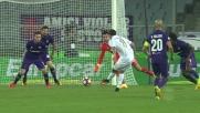 Badelj salva la Fiorentina sulla conclusione di Bonaventura