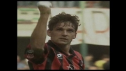 Baggio firma la vittoria del Milan con l'Udinese con un goal di testa
