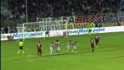 Balotelli con freddezza segna il goal del pareggio contro il Siena