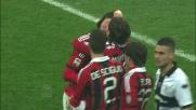 Balotelli, goal su punizione contro il Parma al Meazza