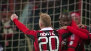 Balotelli realizza su rigore il goal per la doppietta personale contro l'Udinese