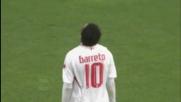 Barreto a giro, sfiora l'euro-goal con la Fiorentina