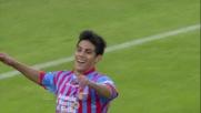 Barrientos per il goal del 4 a 0 del Catania contro la Lazio