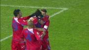 Barrientos realizza il goal del momentaneo pareggio per il Catania a Pescara