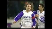 Batistuta firma il goal del pareggio della Fiorentina con il Milan