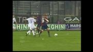 Biondini, dribbling con finta di tiro contro la Fiorentina