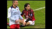 Bega trattiene Inzaghi in area: rigore per il Milan a San Siro