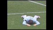 Belleri sbaglia un goal incredibile per la Lazio spedendo il pallone in curva