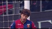 Beppe Sculli arriva in leggero ritardo sull'invito al goal di Bocchetti