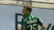 Berardi corsa e goal: il suo tiro di esterno sinistro batte Diego Lopez